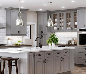 Custom refinished kitchen cabinets